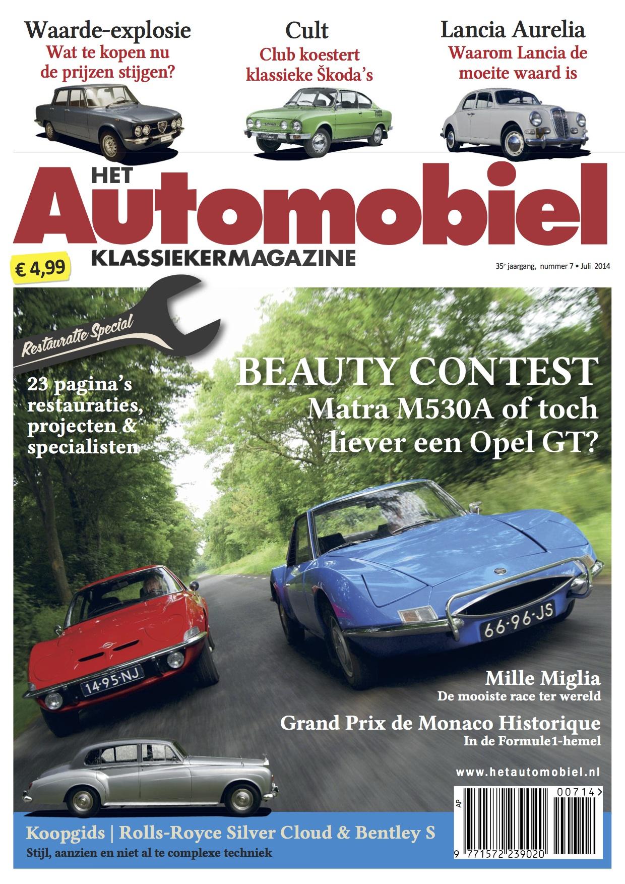 Het Automobiel juli 2014 - restauratiespecial