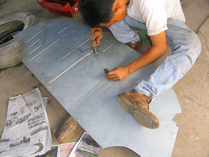 Plaatwerken volgens de Thai-methode